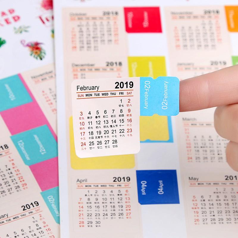 Marbaro Calendario 2020.2019 2020 New Calendar Index Sticker Week Month Date Calendar Calendar Lunar Calendar Handbook Classification