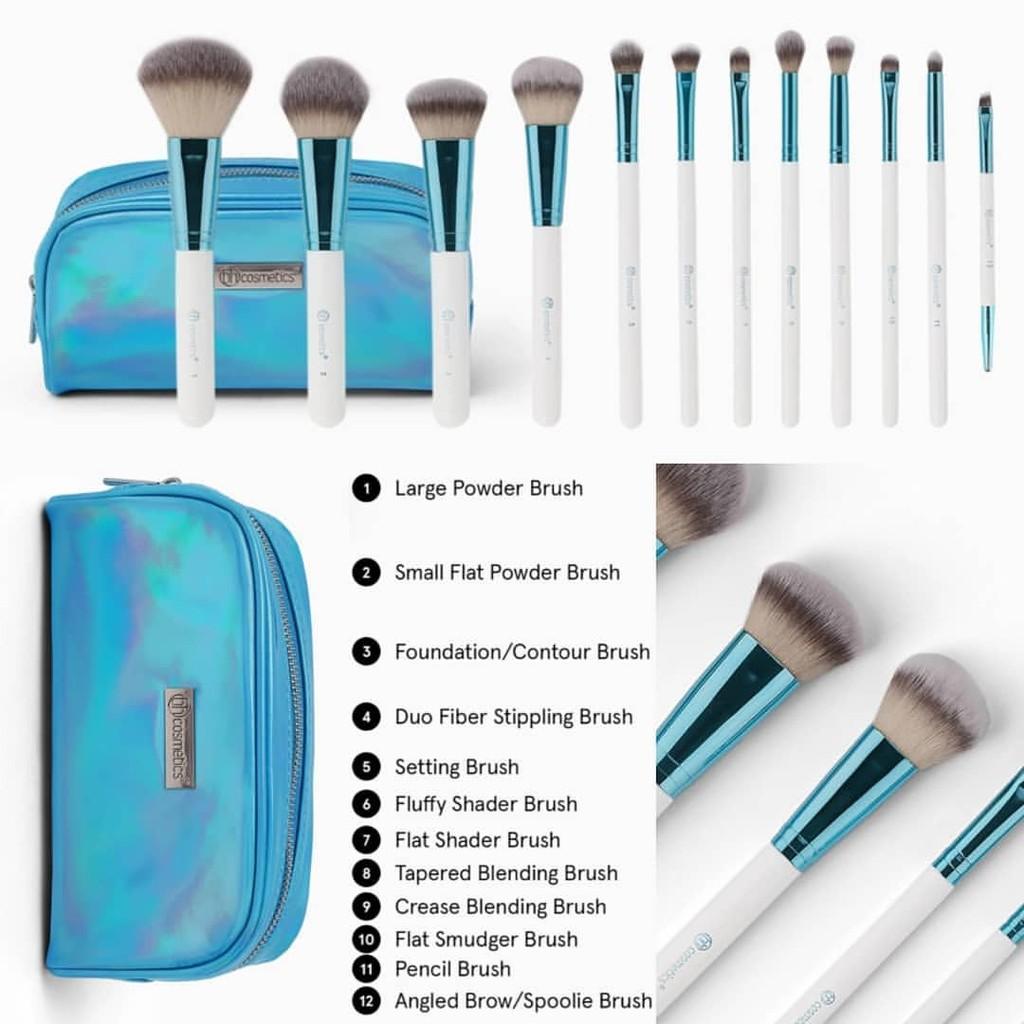 READY STOCK] NEW! BH Cosmetics Poolside Chic 12 Piece Brush Set | Shopee  Malaysia