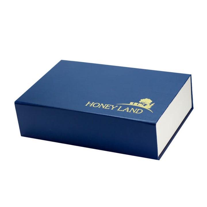 Honey Land™ Gift Box – Organic Honeycomb (400g) & Rose Honey (500g) 100% Madu Lebah Asli Organik
