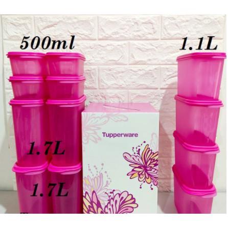 Tupperware: Smart Saver Oval Set 500ml / 1.7L / 1.1L Pink