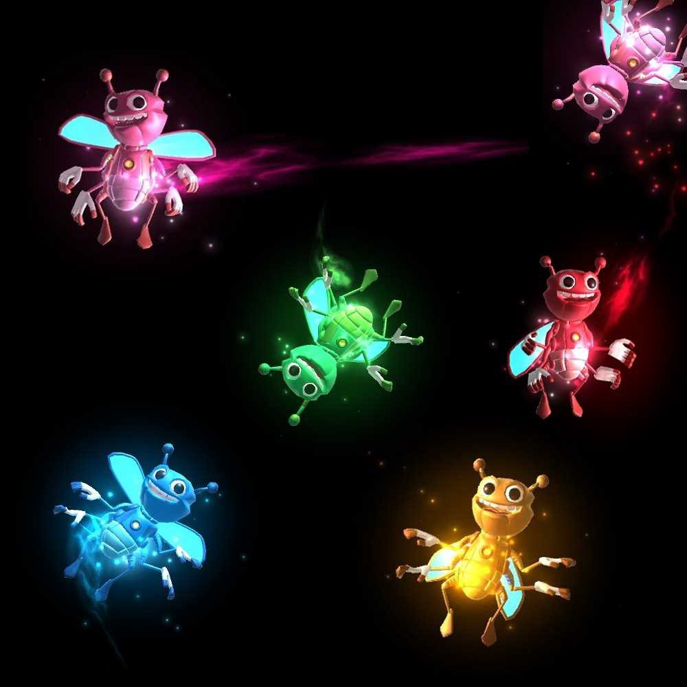 Magic Lights Bee Novelty Toys Finger Props Mobile Phone 3D Projection Finger Cool Toy for Adult Kids