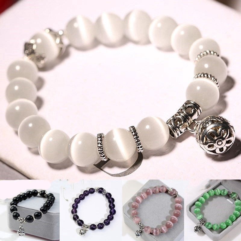 79a145250357b Luxury Cat Eye Bracelet Women's Natural Stone Jewelry Fashion Wedding  Memorial