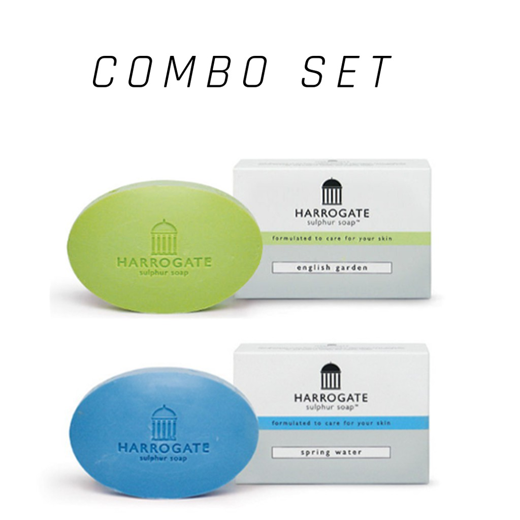 Harrogate Sulphur Soap COMBO of 2 for Psoriasis, Acne, Eczema - Fixed Color