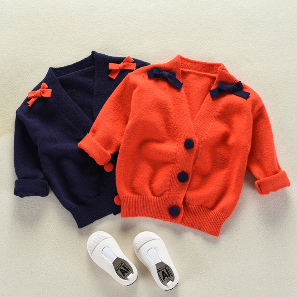 2ca959a9f3af Toddler Girls Boys Kids Baby Sweater Knit Pullovers Warm Coat ...