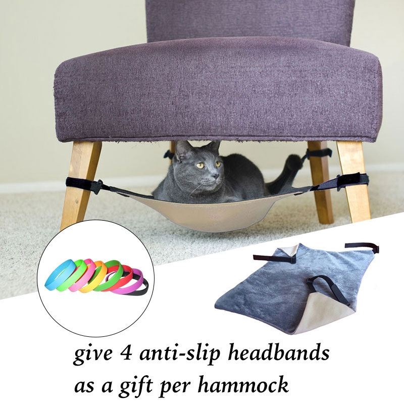 Cat Hammock Bed Hanging Soft Pet Bed Use With Crate Cage Or Chair For Kitten