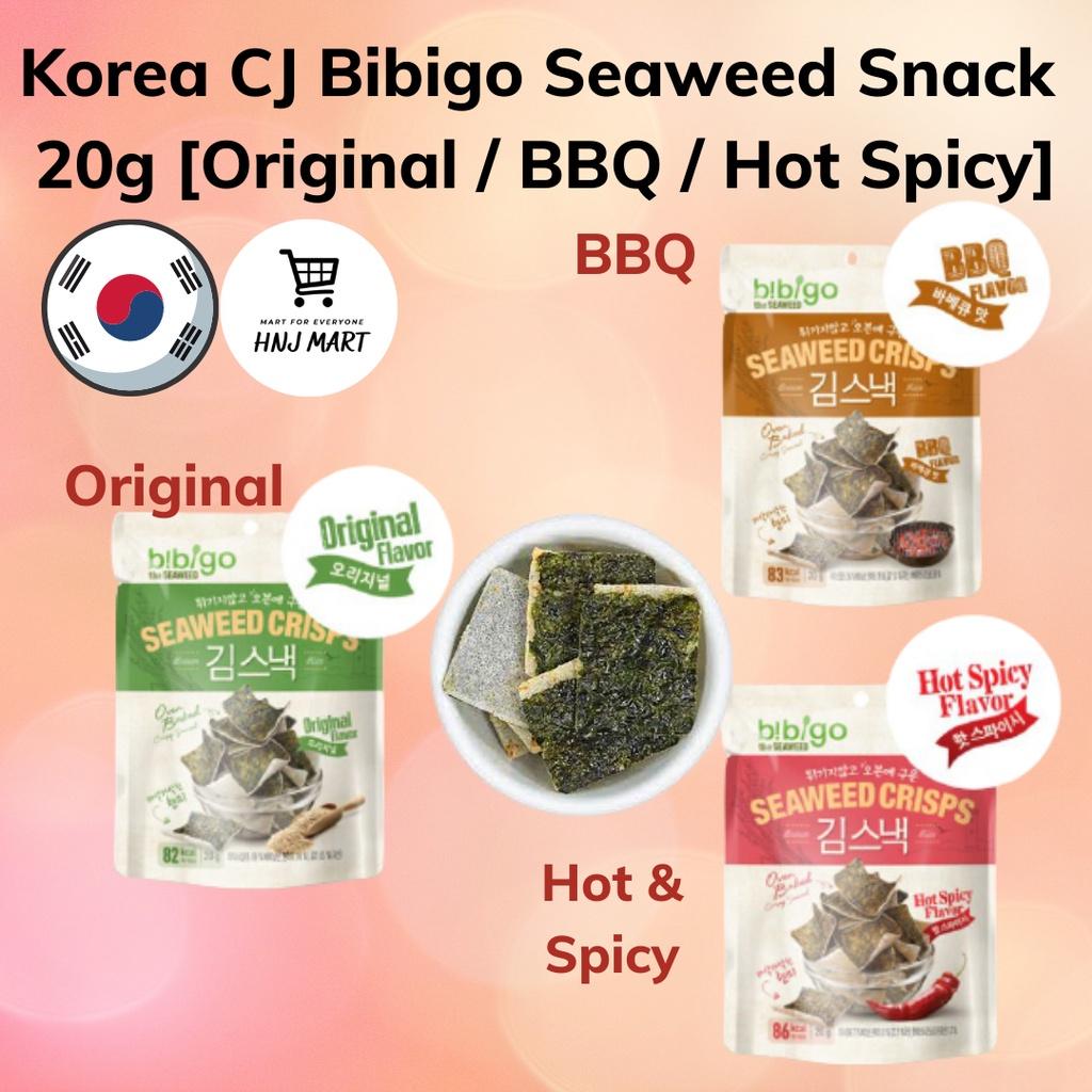 Korea CJ Bibigo Seaweed Snack 3 Flavours Seaweed Crisps [Original / BBQ / Hot Spicy] 20g 韩国紫菜/海苔
