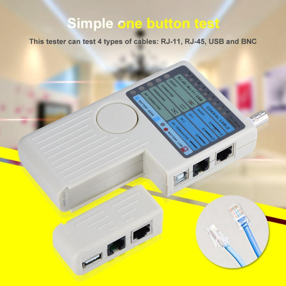 Rj45 Cat6 Ethernet Network Flat Lan Cable Utp Patch Router Cables Low Resistance Connection Testercan Be Used As Or Wire Tester Rj11 Usb Bnc Tracker Detector