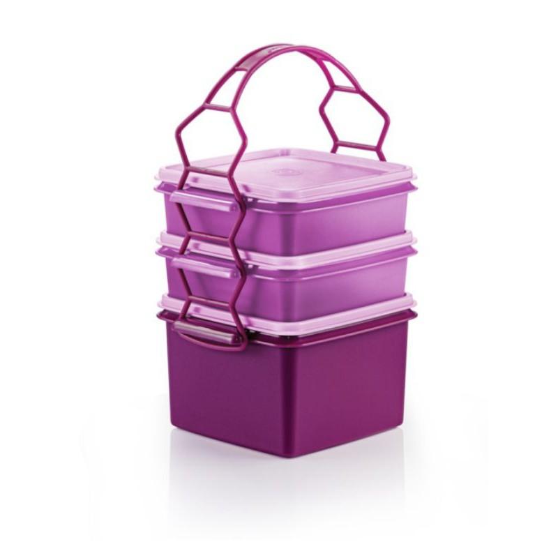 [ Ready Stock ] Tupperware Triffin Delight Set/Mangkuk Tingkat