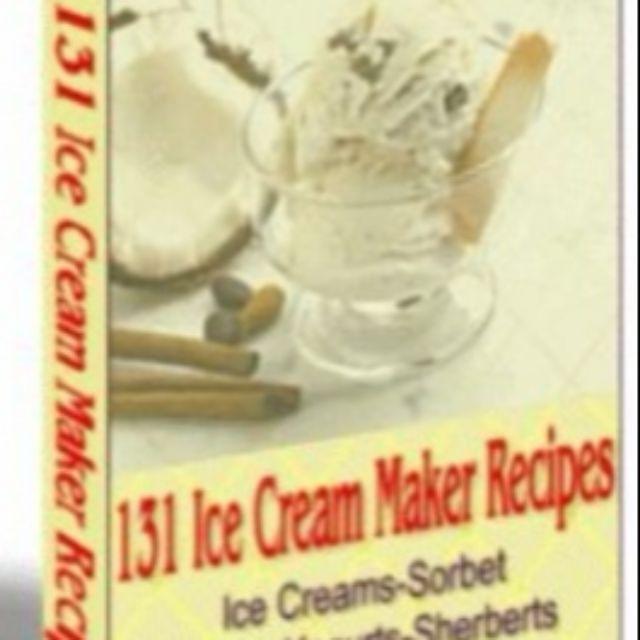 Ice Cream Maker Recipes Ebook