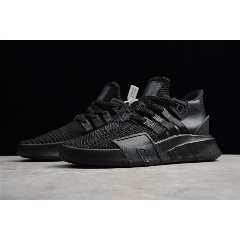 Original Classic Adidas EQT BASK ADV All Black Mesh men women Sport hiking shoes