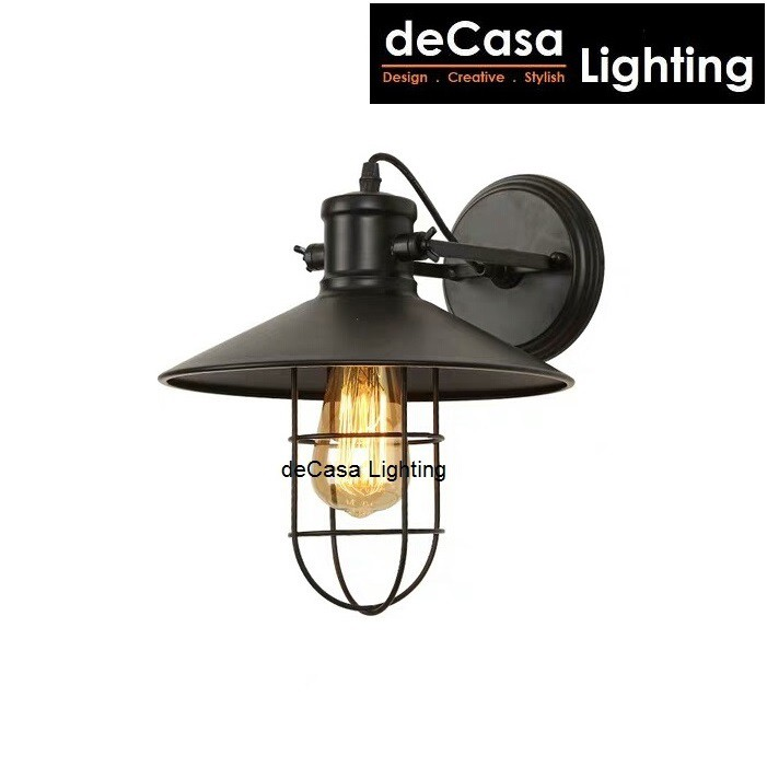 [SET WITH LED BULB] Industrial Decorative Wall Light Decasa Lighting Wall Lamp Nordic Style Designer Lampu Dinding 021