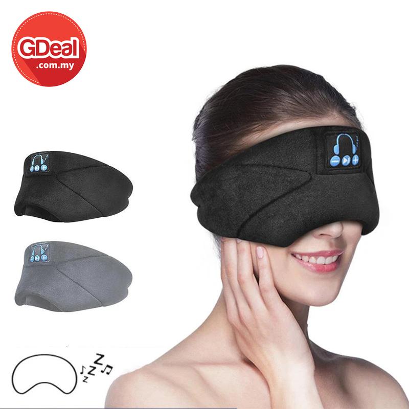 GDeal Comfortable Wireless Bluetooth Headset Music Eye Mask Sleep Aid Penutup Mata ڤنوتوڤ مات