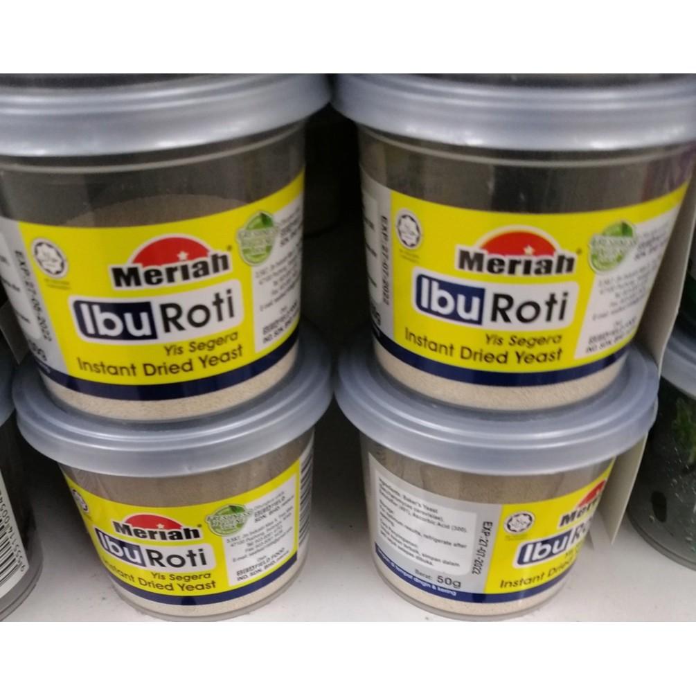 Meriah Ibu Roti Instant Dried Yeast 50g ( Free Fragile + Bubblewrap Packing )