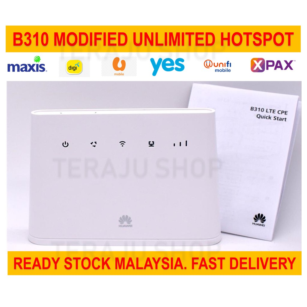 NEW Set Huawei B310 / B310as852 Modified Unlimited Hotspot Tethering