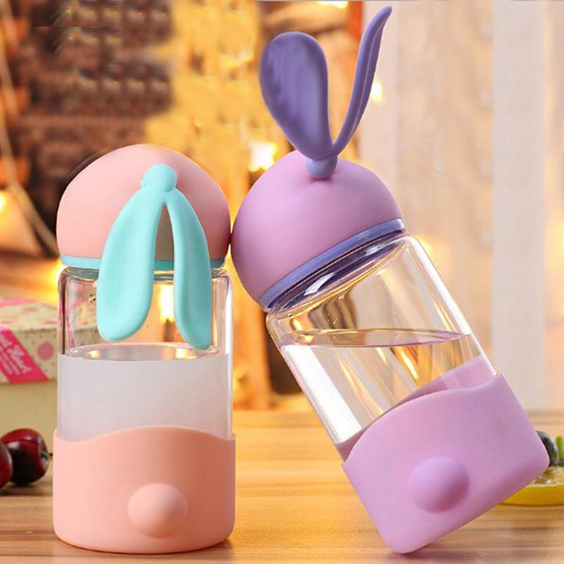 Glass Bottle Cute Rabbit  350ml 可爱兔子玻璃瓶 S00118
