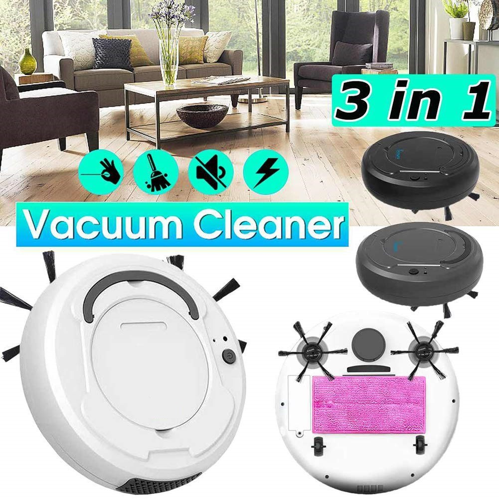 JM ROBOTIC VACUUM CLEANER SUCTION MULTIFUNCTIONAL 3IN1 AUTO RECHARGEABLE SMART SWEEPING ROBOT WET DRY NOISE REDUCTION