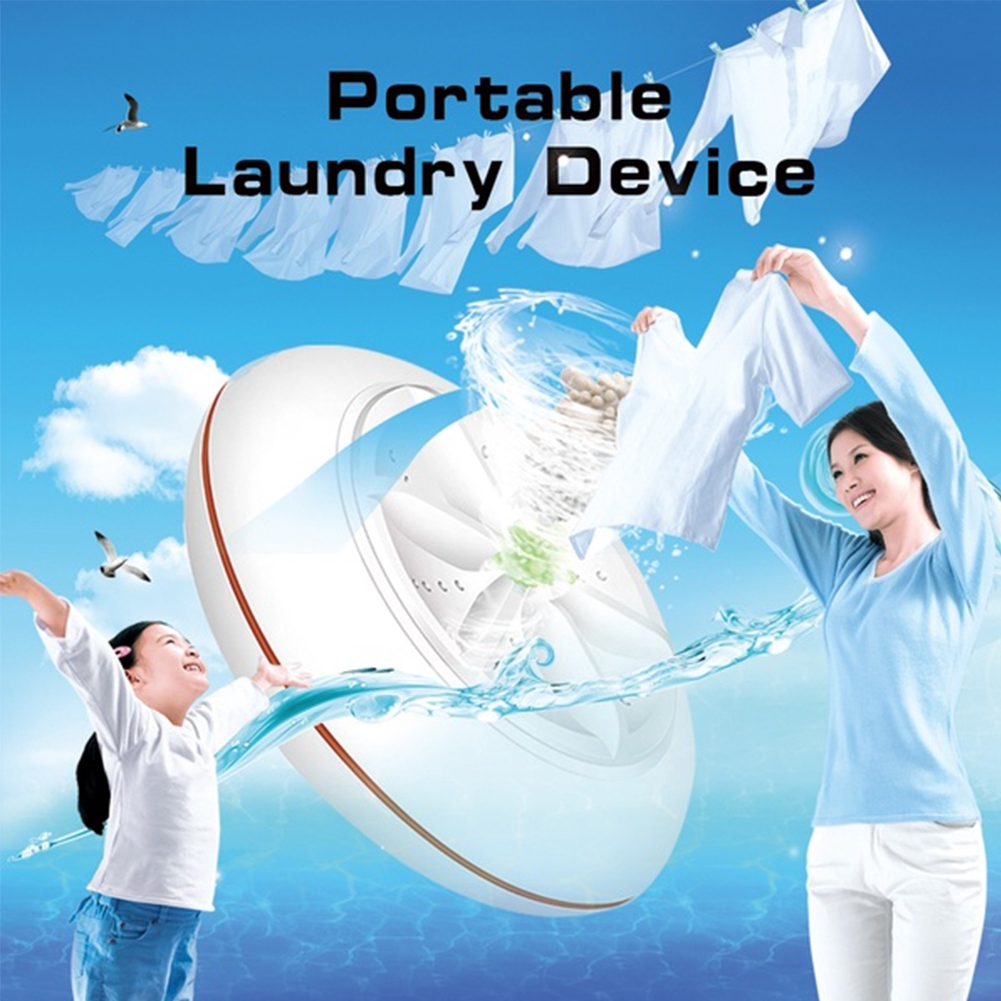 Ultrasonic Cleaning Spin Sterilize Washing Machine Travel Laundry Washer 2 IN 1 USB Portable Mini Turbo