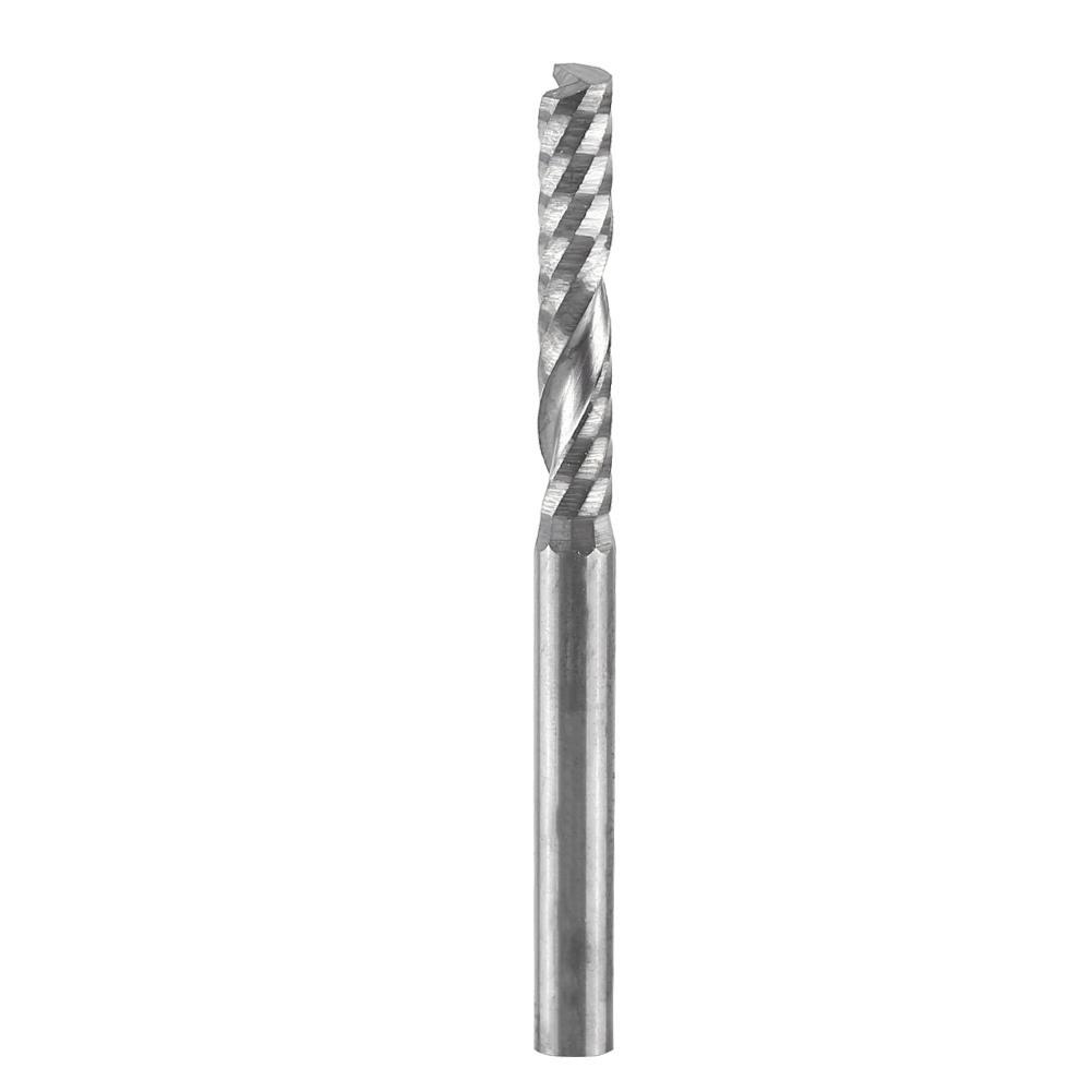 10 pcs Carbide endmill one flute spiral CNC router bits 1//8/'/' 3.175x17mm