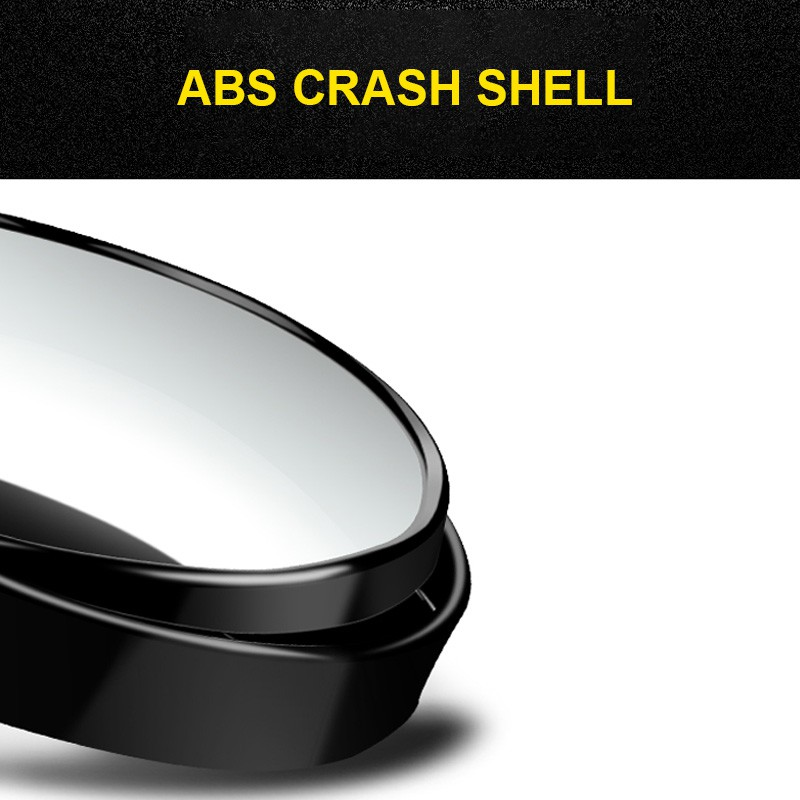 Auto 360 Wide Angle Round Convex Mirror Car Vehicle Side Blindspot Blind  Spot Mirror Wide RearView Small Round Mirror