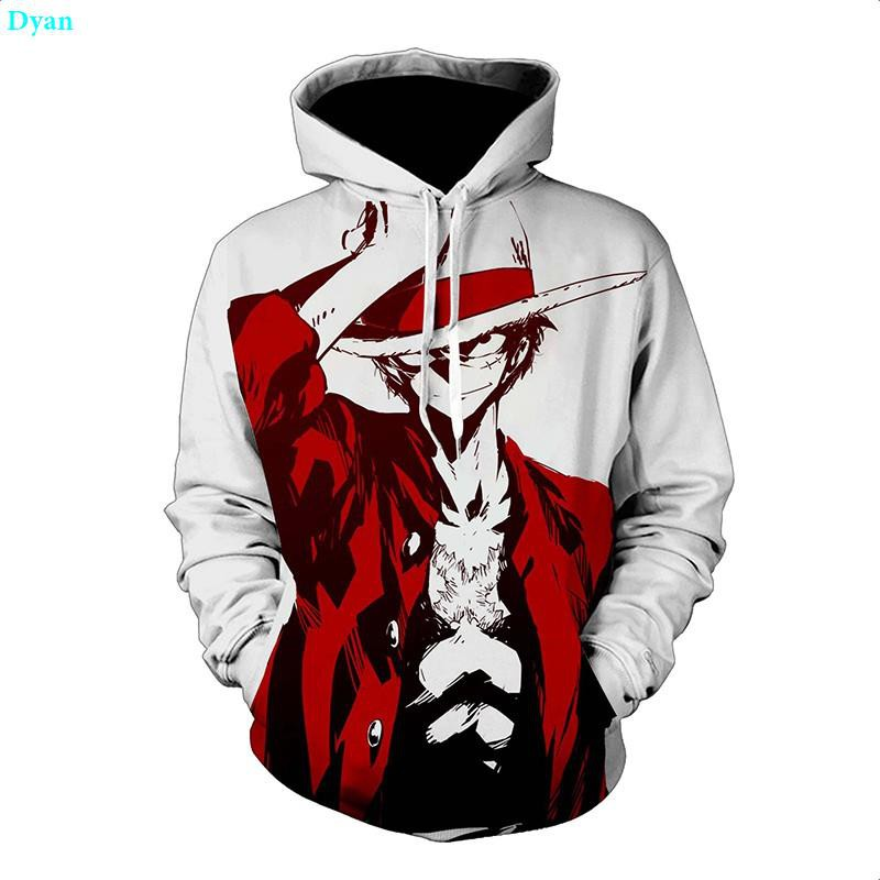 ONE PIECE Kids Anime 3D Printed Hoodie Pullover Sweather Cotton Crew Neck Luffy