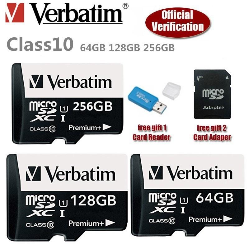 Verbatim 64GB / 128GB / 256GB/512GB 80MB/S Micro SD Ultra Class 10 Memory  Card