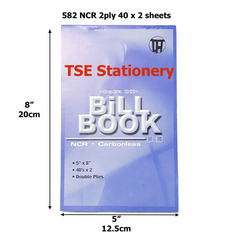 "TLH 5"" x 8"" 2ply / 3ply NCR Bill Book Receipt Book / Invoice / Cash Bill/ Buku Resit"