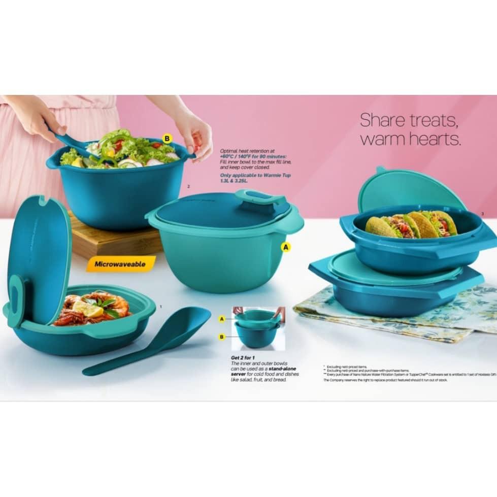Tupperware Warmie Tup Level Full Set/ Royale Purple Blossom Serveware/Deep Plates/Bowls/Mugs/Pitcher/ Giant pitcher