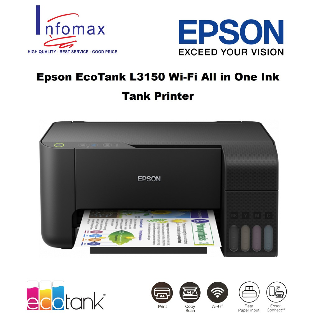 Epson EcoTank L3150 Wi-Fi All in One Ink Tank Printer