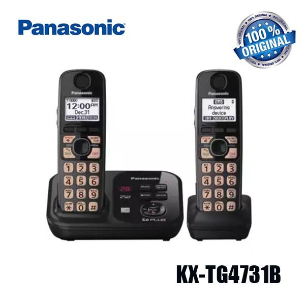 Panasonic KX-TG4731B Cordless Phone Landline Phone Telephone Expandable   Shopee Malaysia