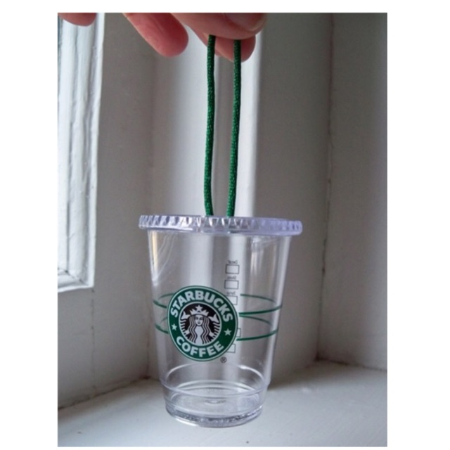 Mini Starbucks Christmas Cold Cup Ornament 2009 Old Logo Limited Edition (6cm)