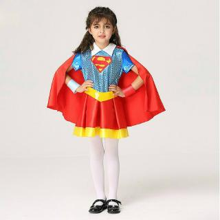 Supergirl Tutu DC Comics Superman Superhero Fancy Dress Halloween Child Costume