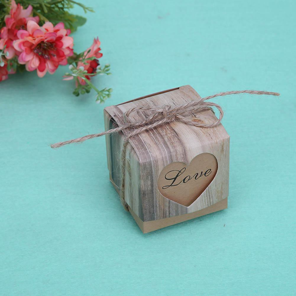 50pcs Small Kraft Paper Box Candy Sweets Gift Box Wedding Party Gift Favor