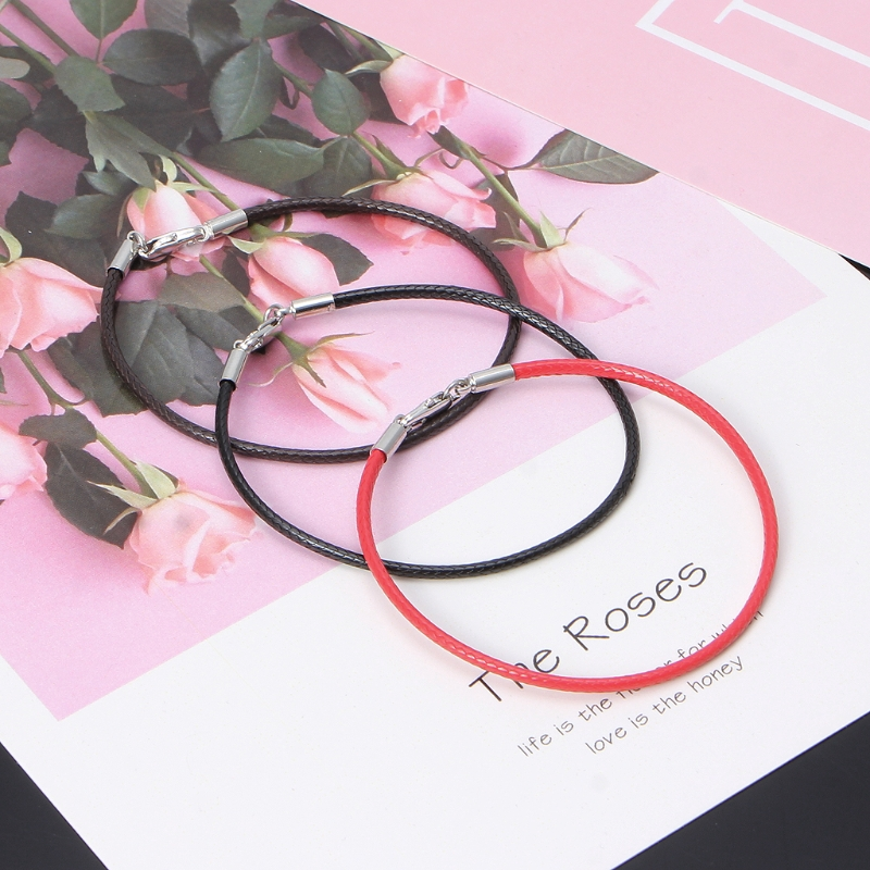 cc539ff3bba07 ✿INF✿Braided Leather Bracelet Wristband With Lobster Clasp Charm Beads DIY  Jewelry