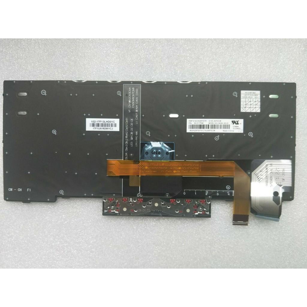 Original New Lenovo Thinkpad X280 X390 US Layout Backlit Keyboard 01YP040