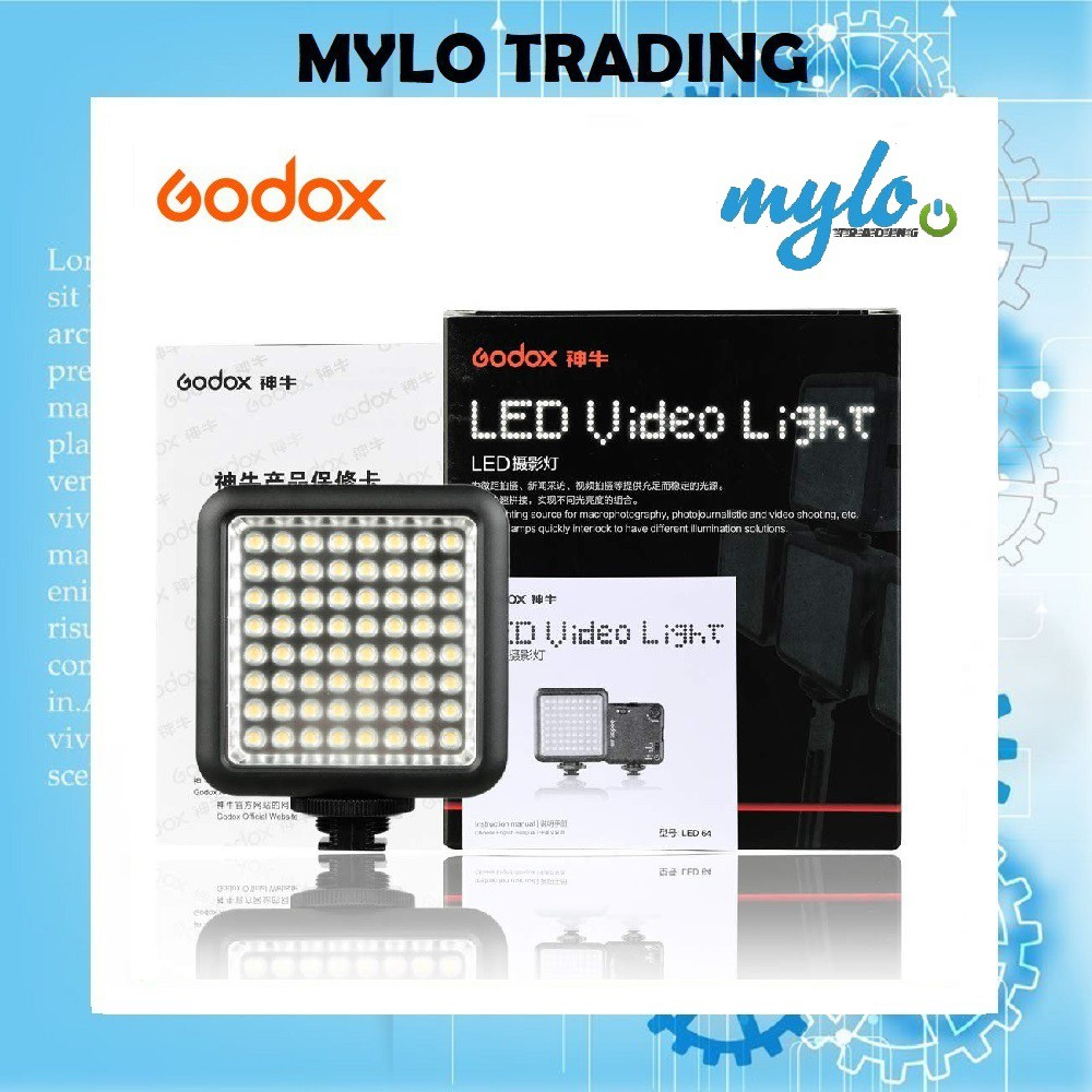 Godox Professional LED64 / LED-64 Video Light