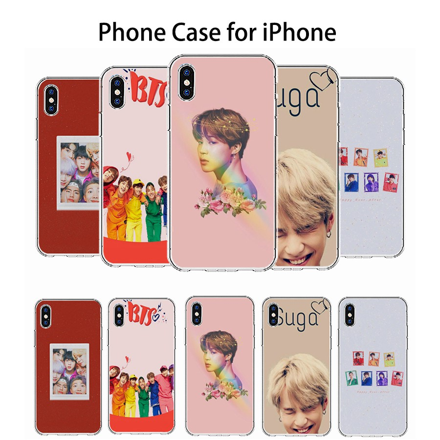 Kpop BTS Print Soft TPU iPhone Case for iPhone 6 6s 6/6s Plus Apple 7 8 X  Xr Xs