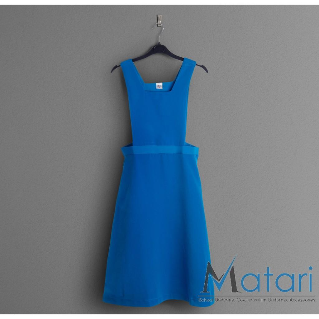 643d49268102 KM Secondary School Blue Pinafore Dress [M18077] | Shopee Malaysia