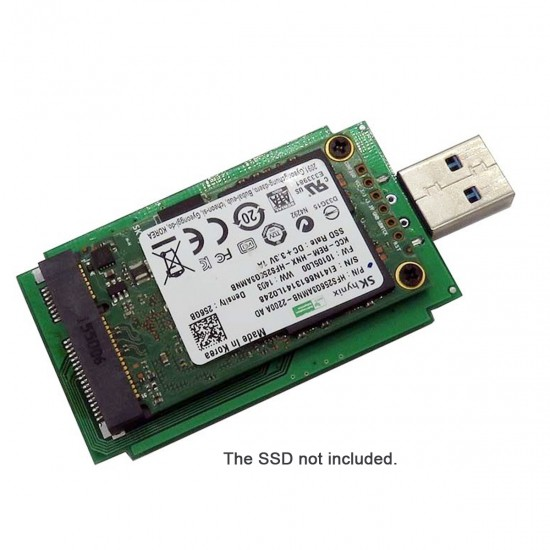 Mini PCI-E mSATA to USB 3.0 External SSD PCBA Conveter Adapter Card with Case