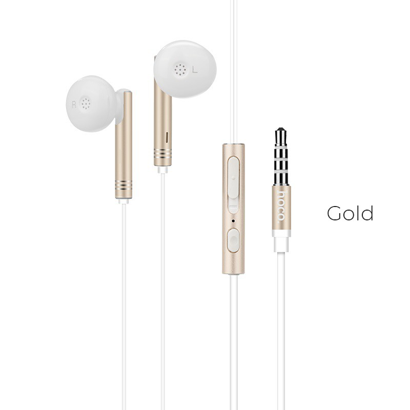 HOCO M26 Zorun wired earphones 3.5mm jack with wire one button control and microphone 1.2m high elastic cable