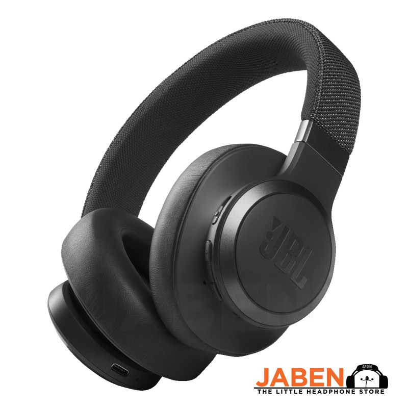 JBL LIVE 660NC ANC Multipoint Intelligent App Support Aux Type-C Mode Bluetooth Closed Back Over-Ear Headphones [Jaben]