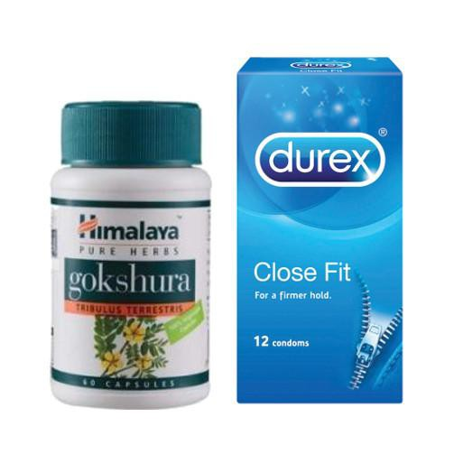 Durex Close Fit Condoms 12s + Himalaya Gokshura