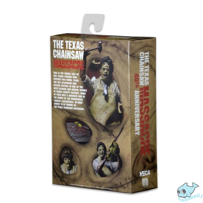 "NECA Texas Chainsaw Massacre Leatherface 7/"" Action Figure 40th Anniversary Doll"