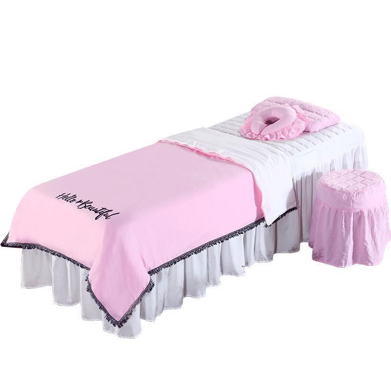 Season General Beauty Salon Massage Bed Cover Four-piece Set