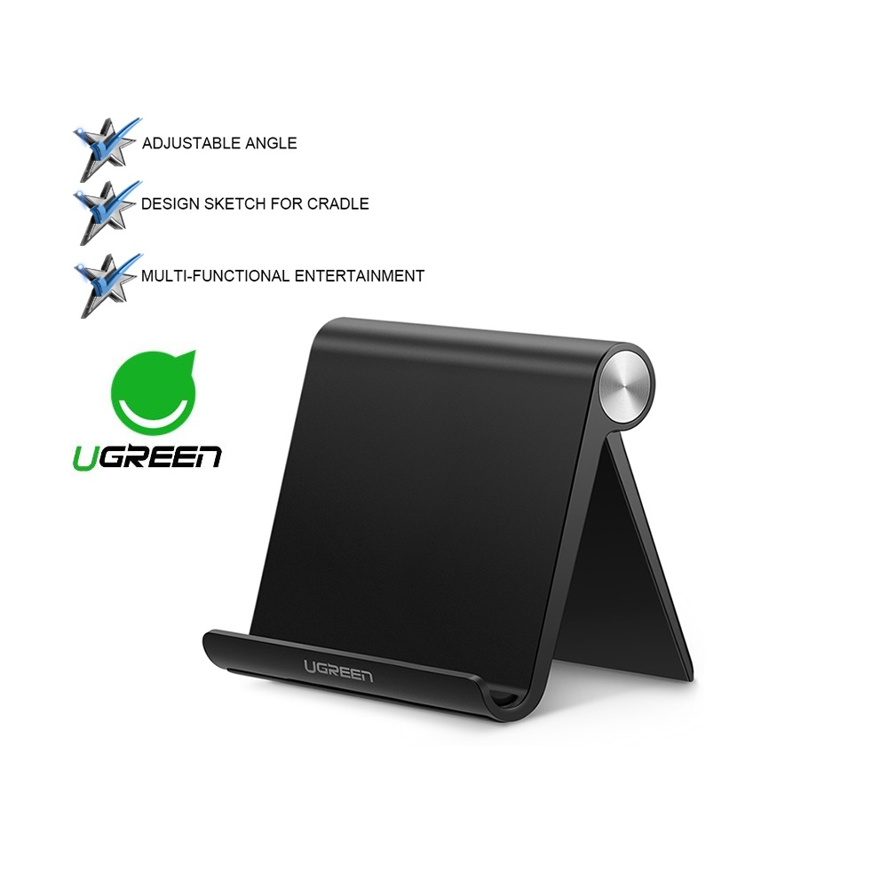 UGREEN Multi Angle Universal Mini Foldable Desk Phone Stand Holder Cell Phone Dock Stand For Tablet Smartphone Mobile