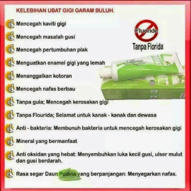 Ubat Gigi Garam Buluh Shopee Malaysia