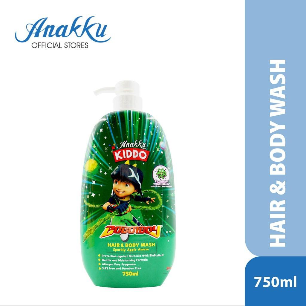 Anakku Kiddo Boboiboy Hair & Body Wash - Sparkly Apple Amaze 750ml 165-714