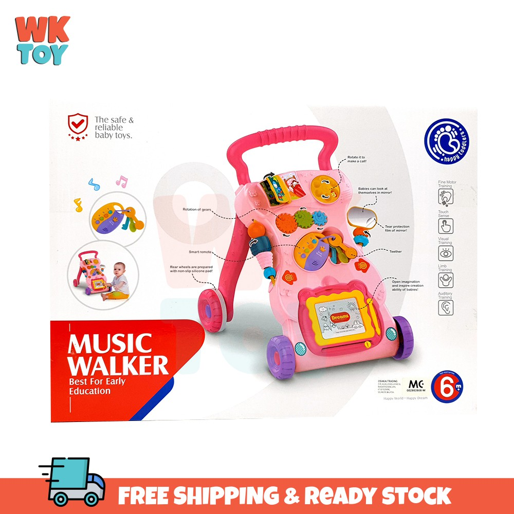 WKTOY Baby Walker No Water Tank Multifunctional Toddler With Music and Educational Toy