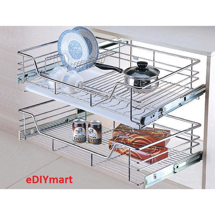 Best Buy 600mm Kitchen Cabinet Multi Function Pull Out Basket