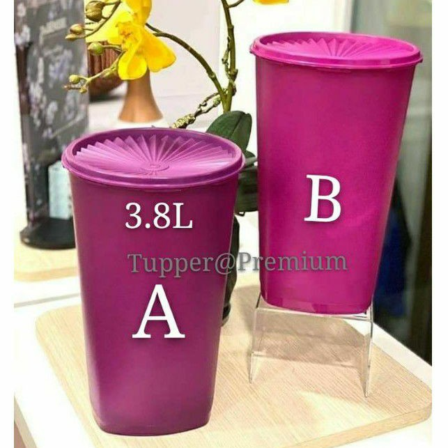 💝READY STOCK💝Tupperware deco canister tall 3.8L 1pc or 2pcs