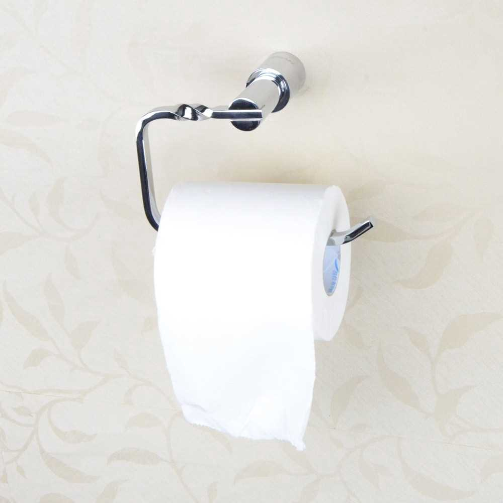 Hot Sale All-copper Chromed Toilet Paper Holder Wall-Mounted Bathroom Tissue Rack Chrome Bathroom Accessory